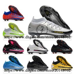 Wholesale elite fit resale online - GIFT BAG Mens High Ankle Football Boots Phantom GT Elite FG Cleats Outdoor Dynamic Fit AG Soccer Shoes