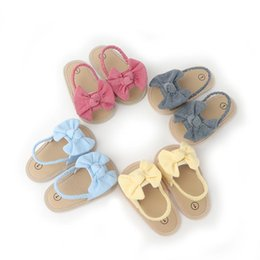 toddler slippers UK - Toddler Baby Girls Sandals Bow Beach Shoes Prewalker Slippers Swimming For Children First Walkers