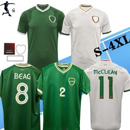 hombre alto al por mayor-Talla S XL Duffy Brady S Long Land Land EUROPE EUROPE SOCCER JERSEYS Home Away National Team Irlanda Man Football Shirt