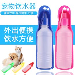 vehicle pet barriers UK - Dog Travel Outdoors kettle Pet out cup pet tableware portable folding water dispenser WUPI