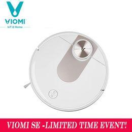 Viomi SE-Robot Smart aspirador de pó, planejamento tipo Y, esfregão elétrico, aplicativo mijia, economizar 5 mapas, 7 horários, coletor de poeira do cabelo do tapete em Promoção