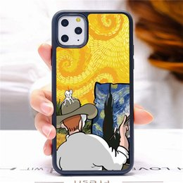 covers for van UK - Custom Phone Cases 2D Sublimation for iPhone 12 11 PRO XR XS MAX 7 8 Plus Van Gogh Pattern DIY Personalized Protective Cover
