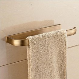 copper towel ring UK - Copper Towel Rail European Antique Brushed Bathroom Rack Environmental Protection Accessories Rings