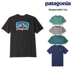 cotton polyester blend t shirts UK - T responsibil Bata Patagonia shirt men's organic cotton blended short sleeve T-shirt