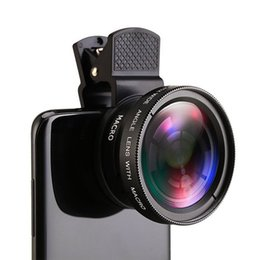 Universal clip general mobile phone professional 37mm 0.45X 49uv super wide angle + macro range two camera lens