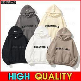 Wholesale Warm ESSENTIALS Hooded Hoodies Mens Womens Fashion Streetwear Pullover Sweatshirts Loose Hoodies Lovers Tops Clothing