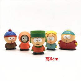 Wholesale south park for sale - Group buy Four Xd Cartoon Handmade Car Doll Hand Model Gifts in South Park Wanzai Paradise