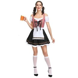 Wholesale superhero suits for sale - Group buy ZACOO Women Oktoberfest Style Fashion Maid Dress Costume Beer Festival Dress Suit