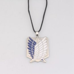 Wholesale attack titan scouting legion cosplay resale online - 20Pcs Attack On Titan Necklaces Wings of Liberty Scouting Legion Cosplay Eren Pendant Necklace for Women Men Jewelry Gift