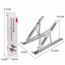 Ingrosso Staffa pieghevole creativa Staffa in lega di alluminio Stand 10-15.6 pollici Laptop supporta il supporto portatile altezza regolabile a 6 posizioni