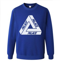 Discount palace skateboards Trend palace triangle skateboard loose Pullover round neck sweater men's large hoodie coat