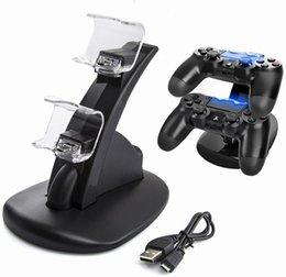 LED PS4 Dual Ładowarka Mount Mount USB Ładowanie Do PlayStation 4 Gaming Serverler Wireless z polem
