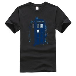 Wholesale tee shirt machines for sale - Group buy Splashed Tardis Doctor Who Machine Tops Tees Back To The Future Crew Neck Cotton Men s T shirts Party Shirts