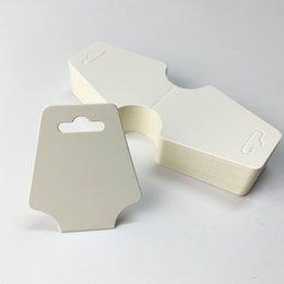 12 * 5cm blanc noir kraft papier bricolage blanc carte collier de bijoux bracelet bracelet bracelet bracelet écran tag 200pcs 639 q2 en Solde