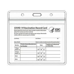 CDC Vacinate Cart Card Case Arquivos 4 x 3 Polegada Imunização Record Vacinação Cartões Protetor Clear Vinil Plástico Manga À Prova D 'Água - Somente em Promoção