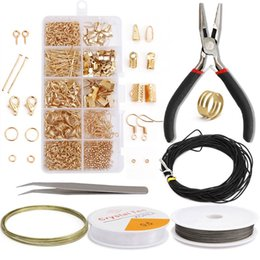 Wholesale Alloy Accessories Jewelry Findings Set Jewelry Making Tools Copper Wire Open Jump Rings Earring Hook Jewelry Making Supplies Kits 766 Q2