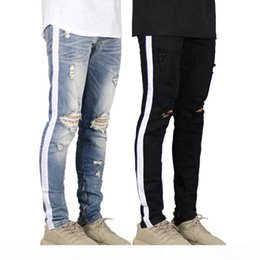 american apparel jeans UK - Mens Designer Jeans Pants Mens Spring New Fashion Long Zipper Pencil Pants Ins Hot Style Mens Apparel