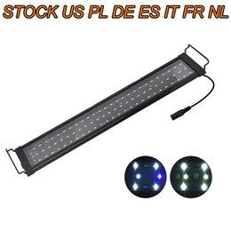 LED Aquarium Light Full Spectrum Freshwater Fish Ultra-thin shell Tank Plant Marine Lights 48 on Sale