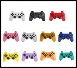 Wholesale Wireless Bluetooth Joysticks For PS3 controller Controls Joystick Gamepad Controllers games With retail box free DHL ups
