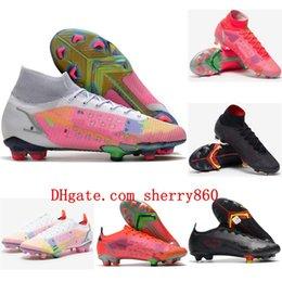 2021 top quality mens soccer shoes mercurial Superfly XIV elite FG soccer cleats CR7 neymar football boots scarpe calcio on Sale
