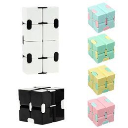 1Pcs Children Adult Decompression Toy Infinity Magic Cube Puzzle Relieve Stress Funny Hand Game Four Corner Maze Toys on Sale