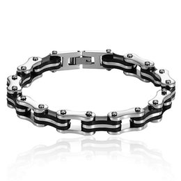 jade chain designs UK - Design Punk Rvs Bracelet for Man Motorcycle Bike Chain Jewelry Bangle Style Friendship Poison
