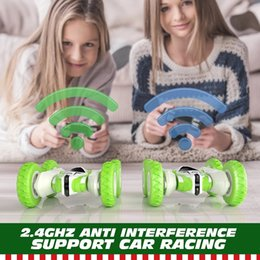 DHL RC Car 2.4G 4CH Stunt Drift Deformation Buggy Remote Control Roll 360 Degree Flip Kids Robot Cars Toys wholesale on Sale