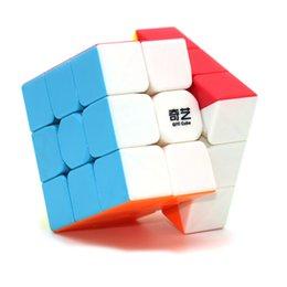 Опт 2021 Qiyi Speed Cube Magic Rubix Cube Warrior 5.5см Легкая поворотная наклейка бесплатно Прочный для начинающих игроков 736 x2