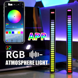 Wholesale yd001 gadgets Wireless Rhythm Light RGB Voice Control Music Lamp LED Computer Car Atmosphere Pickup Lights with package pack by yourself
