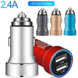 android tablet samsung Australia - Led Light car charger Dual Usb Ports Aluminum Alloy 3.4A Chargers for iphone 7 8 x samsung Htc Android phone Tablet PC Gps