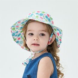 baby swim hats UK - 2020 New Summer Baby Sun Hat Children Outdoor Neck Ear Cover Anti UV Protection Beach Caps Boy Girl Swimming Hats For 0-8 Years Kids 259 R2