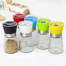 Опт Цвет творческие кухонные инструменты Компактный ручной стеклянный перец и специя шлифовальный флакон бутылка вкуса удобна и практична