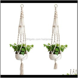 designer bags europe 2021 - Planters & Plant Hangers Rame Rope Pots Holder Ropes Wall Hanging Planter Hanger Basket Plants Holders Indoor Flowerpot Baskets Liftin Tv0Xb