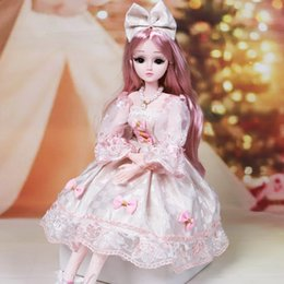 Discount bjd doll shoes 60cm 20 Movable Joints White Skin Bjd Dolls Princess Dress Girl Toys 3D Eyes Clothes Shoes Accessories BJD Doll Toy for Girls