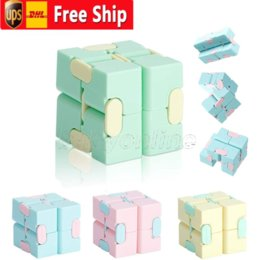 Wholesale infinity designer resale online - Magic Infinity Cube Hand Antistress Toy Square Puzzle Toys Relieve Stress Funny Game Maze Child Adult Anti Stress Toys