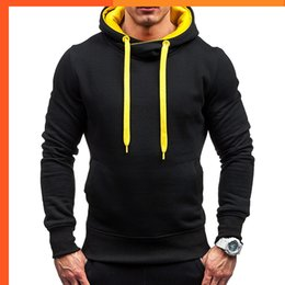 Wholesale black champion hoodie resale online - Hoodies Custom Fashion Champion Hoodie Spring Stylish Black Men s Sweatshirts