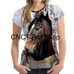 mad men t shirts Australia - 3D Men and Women 's Mad Horse Leisure Short sleeves top, animal printed shirt, comfort T - shirt 2021 New