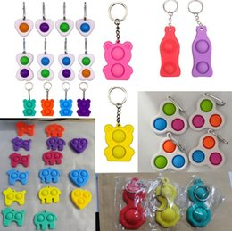 Push Pop Fidget Party Party Simple Beyshain Key Ring Ring Детские пальцы игрушки сенсорные сжатие игрушка сжимание вентиляционные шарики против беспокойства на Распродаже