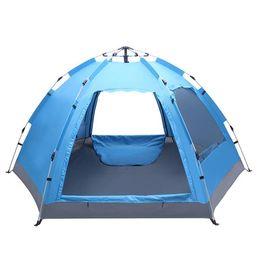 Опт Кемпинг БЕСПЛАТНО, чтобы построить гидравлическую палатку с шестью сторонами однослойные двойные двери и дверные окна