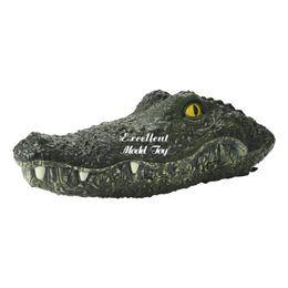 Опт EMT QTA2 2.4G дистанционного управления Crocodile Head, RC Животные, электрические смешные страшные игрушки, плавать в воде, шутка хитрости, мальчик рождественские демя рождества подарок на день рождения, 2-1