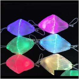 Discount halloween quilt Sewing Notions Tools Apparel Drop Delivery 2021 Party Face Bar Nightclub Led Fiber Luminous Variable Color Luminou Masks Halloween Mask E4140