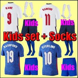 Таиланд Качество Тайский футбол Джерси 2021 Англия Кейн стерлингов Rashford Lingard Varry 20 21 Национальные футболки Мужчины + Детские комплекты Униформа на Распродаже