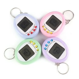 Macaron Mini Electronic Pet Machine Electronic Game Machine Key Chain Pendant Multicolor Children Toys G40IDBQ on Sale