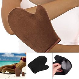 Wholesale New Tanning Mitt With Thumb for Self Tanners Tan Applicator Mitt for Spray Tan Beach Special Gloves 1185 V2