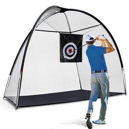 Опт Сетка для гольфа, 10x7FT, ударяя обучение СПИДы Сетки с целевой и переносной сумкой для вождения на заднем дворе, мужские дети в помещении спортивные игры