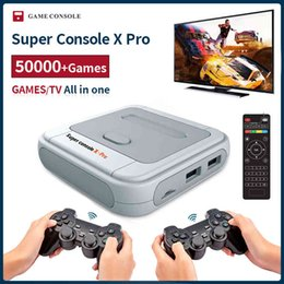 tv video game system UK - Super Console X Pro Retro Mini Video Game Console TV Dual system For PSP N64 DC PS1 Games For Xbox Gamepad Built-in 50000+Games Q0508