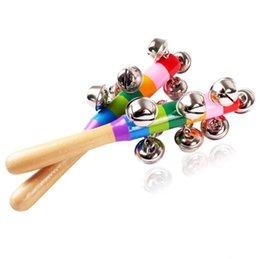 Опт Rainbow Rattles Mobiles Цвет Детские Младенческие Образовательные Ранние Образование Игрушки Упражнения Детская Рука Рука Рука Глаз