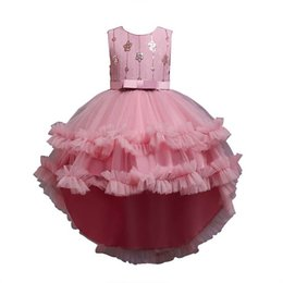 girls tutu dresses 12y 2021 - Girl's Dresses Girls Pageant Party Princess Long Child Clothing Sequin Tutu Pettiskirt Kids Clothes 4-12Y B4486