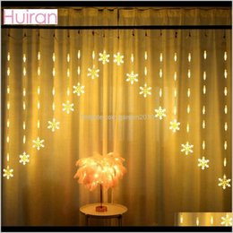snowflake lighted curtain 2021 - Decorations Snowflake Led Curtain Lights Christmas For Home Hanging Garland Xmas Tree Decor Ornaments Navidad Year 201027 Zapxg Crswh