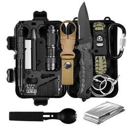 Multifunctional Self-defense SOS Wilderness Survival Kit Outdoor Multitool Kit Adventure Self-defense Kit Survival Tool on Sale